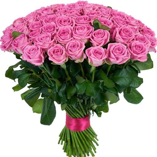 Купить на заказ Букет из 101 розовой розы с доставкой в Шахтинске