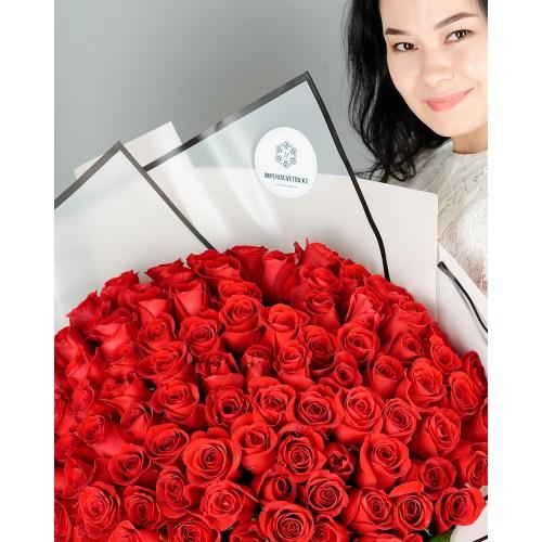 Купить на заказ Букет из 101 красной розы с доставкой в Шахтинске